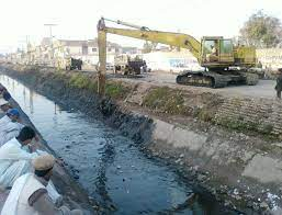 cleaning of water canal
